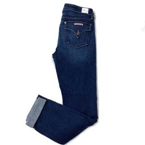 Hudson Bacara Crop Straight Cuffed High Rise Jeans